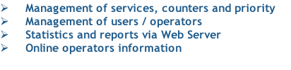 Management of services, counters and priority